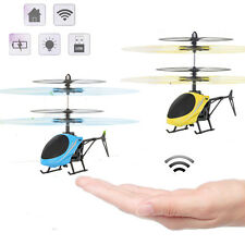 Infrared Induction Indoor Mini RC Helicopter Led Light Flying UFO Kids Toys Gift
