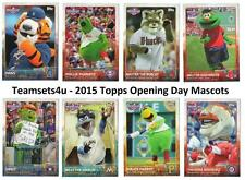 2015 Topps Opening Day Mascots Baseball Set ** Pick Your Team **