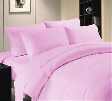1000 TC Hotel Pink Solid & Striped 100% Egyptian Cotton All UK Bedding Set's