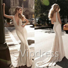 Ivory Wedding Dresses Lace Appliques Sleeveless Beads Sequins Bridal Gowns 2017