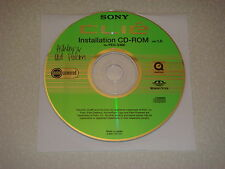 Sony Clie PEG-S360 Software Driver Installation CD-ROM