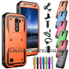 Hybrid Rugged Rubber Protective Hard Case Cover For LG G Stylo 2 / Stylus 2 Plus