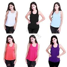 Women Sports Vest Fitness Gym Stretch Workout Sleeveless Blouse Tank Top T-Shirt
