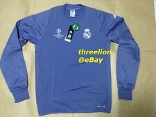 BNWT Adidas 2016/17 REAL MADRID UCL Purple L/S Soccer Football Training Top