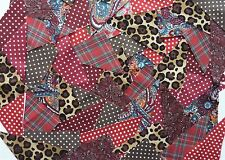 FABRIC SCRAPS/REMNANTS TRIANGLE SHAPES - MIXED COTTON - QUILTS/CRAFTS/PATCHWORK