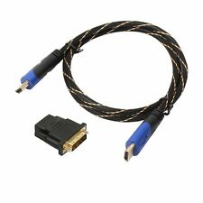 1080P Braided HDMI Cable V1.4 AV HD 3D+DVI Adapter for PS3 Xbox HDTV 0.5M-10M