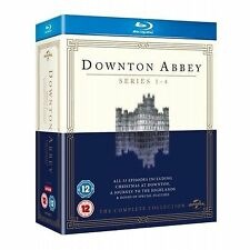 Downton Abbey - Series 1-4 - Complete (Blu-ray, 2013, 13-Disc Set, Box Set)
