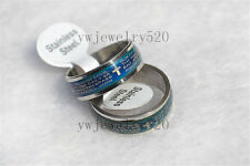 wholesale Lots 50x Cross Christian Prayer stainless steel change Color mood ring