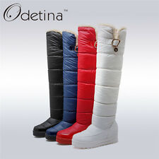 Winter Over The Knee Snow Boots Large Size Warm Plush Thigh High Women Platform