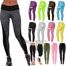 Women High Waist Yoga Fitness Leggings Running Sports Gym Workout Pants Trousers