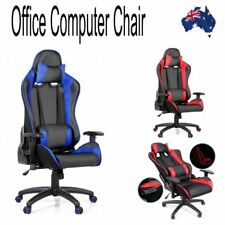 PU Leather & Mesh Reclining Office Desk Gaming Executive Chair Home Swivel Seat