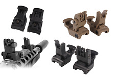 Tactical Polymer Sights Flip Up Front Rear Set Weaver Picatinny Transition Rail