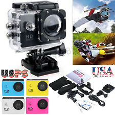 "2"" 1080P Full HD Outdoor Sports 12MP Digital Action Camera DV Car Camcorder Set"