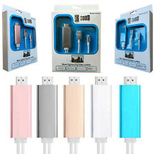 For iPhone 7 6 iPad 1080P Lightning to HDMI/HDTV AV TV Cable Adapter Plug&Play D