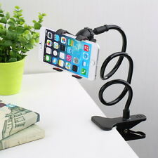 Universal Lazy Bed Desk Car Clip Stand Mount Holder For Cell Phone Long Arm New