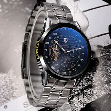 TEVISE Luxury Mens Stainless Steel Mechanical Military Auto Wrist Watch+Gift Box