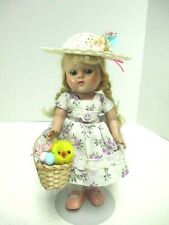 CUTE  EASTER HAT & BASKET FOR 8 IN VINTAGE GINNY  MADAME ALEXANDER DOLL