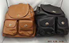 NWT Coach F37410 BILLIE BACKPACK IN BLACK PEBBLE LEATHER NWT - MSRP $395