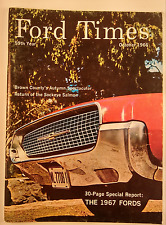 Ford Times October 1966 Vol 59 # 10 Thunderbird Fairlane Mustang Falcon 67 Fords