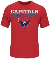 Washington Capitals NHL Majestic Boys Feel The Pressure Shirt Red Youth Sizes