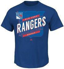 New York Rangers NHL Majestic Boys Earn Each Play Shirt Royal Blue Youth Sizes