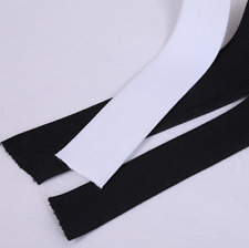 Size 2 cm  1/5/20 Yards Knitted Elastic Black / White Crafts Sewing Trim