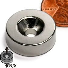 "CMS Magnetics® N45 Neodymium Disc Magnet 5/8""x 1/4"" with one #6 Countersunk Hole"