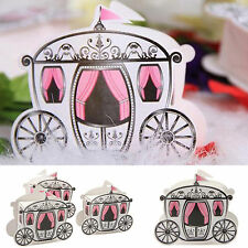50/100/200 Enchanted Carriage Wedding Candy Boxes Marriage Party Favor Gift Bags