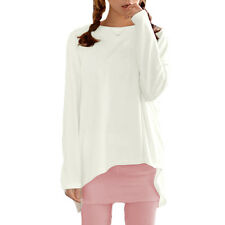 Women Round Neck Dolman Sleeve Loose Fit Bowknot Back Design Tunic T-Shirt