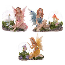 Flower Fairy With Snow Globe (Water Ball); Unicorn, Toadstool, Butterfly - NEW