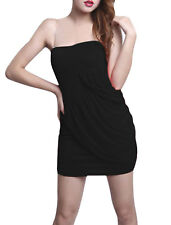 Ladies One Shoulder Ruched Detail Backless Sheath Dress