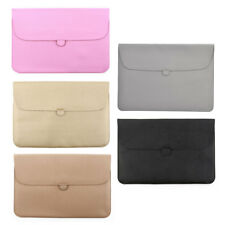 Home Office Computer PU Leather Pouch Cover Laptop Sleeve for MacBook 15.4 Inch