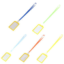 Factory Worker Plastic Rectangle Name ID Card Tag Badge Holder Container 5 Pcs