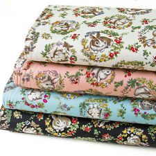 Japanese Fabric Oxford Cotton Fabric The Rabbit in the forest 1/2 yard