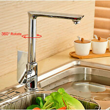 Chrome Roasted Paint Hot/Cold Single Handle Mixer Sink Water Tap Kitchen Faucet