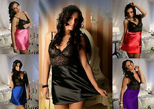 Sexy Lace Chemise Pretty Satin Skirt 1611 Plus Size Lingerie 10-22 Lady Nighty