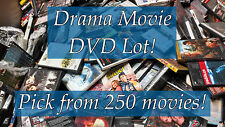 DVD Lot of Drama DVDs: 250 Movies to Pick From! Buy Multiple And Save!