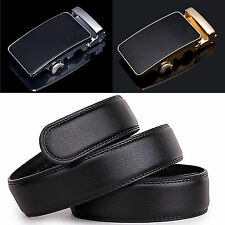 Hot Men Casual Genuine Leather Automatic Buckle Belts Waist Strap Belt Waistband