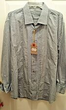 NWT Robert Graham Denim Blue Embroidered Shirt- MACLEAN -Sz XL