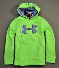 NWT BOYS YOUTH UNDER ARMOUR NEON GREEN PULLOVER HOODIE JACKET COAT YSZ M L