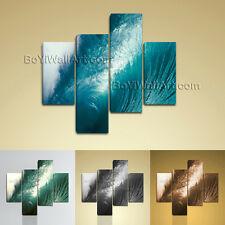 Large Seascape Wall Art Sea Wave Canvas On Living Room Tetraptych Pieces Print