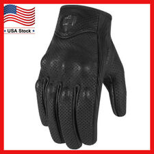 Motorcycle Leather Gloves Mens Perforated Pursuit Street Stealth Black M/L/XL 02