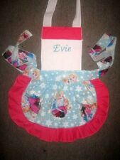 LADIES GIRLS/KIDS PERSONALISED FROZEN APRON M2O All colors & sizes C STORE