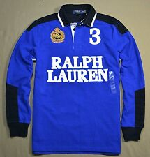 NWT MEN POLO RALPH LAUREN CUSTOM FIT LONG SLEEVE RUGBY POLO SHIRT SZ M L