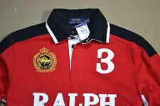 NWT MEN POLO RALPH LAUREN CUSTOM FIT LONG SLEEVE RUGBY POLO SHIRT SZ M