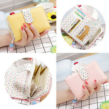 1Pcs Fashionable  Colors Candy  Polka Dot  Wallets Women  Zippered Leather