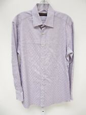 Etro Milano Men's Purple Checkered Long Sleeve Button Front Dress Shirt 40