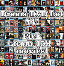 Drama DVD Lot #4: 158 Movies to Pick From! Buy Multiple And Save!