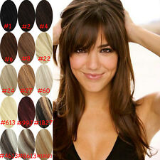 """Clip In Full Head Hair Extensions 100% Remy Real Human Hair Extension 18"""" 130g"""