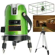 Auto Self Leveling 5 Lines 6 Points 4V1H Laser Level Measure Rotary Tool +Tripod